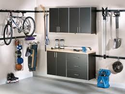 image of wall mounted garage shelving diy
