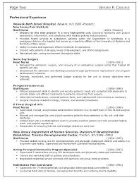 Nursing Resume Model Barca Fontanacountryinn Com