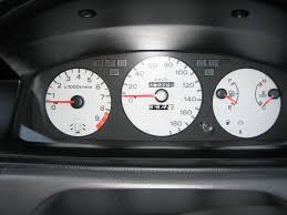 diy honda civic 92 95 jdm door open gauge cluster indicator typical jdm civic 4dr eg9 ferio white faced gauge cluster door open indicator under tachometer