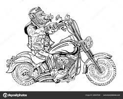 Divočák Na Motorce Cyklisty Motorkáře Symbol 2019 Rok Prasete