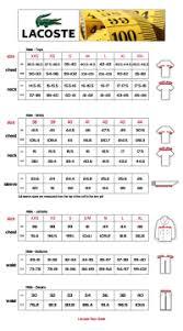 Lacoste Polo Size 5 Chart Lacoste T Shirt Measurements