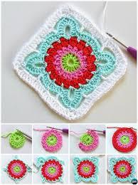 Flower Granny Square Pattern