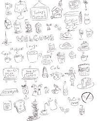 おしゃれカフェグッズ盛りだくさん手書き風イラスト50個つくってみた