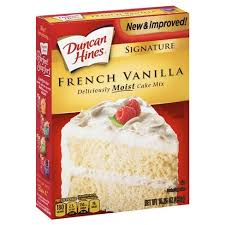 Duncan Hines Moist Deluxe French Vanilla Premium Cake Mix 1525oz