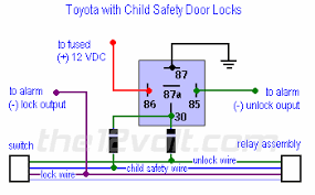 car security and convenience special door lock systems toyota child safety door lock system