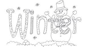 Small Picture Word Of Winter Coloring Pages For Kids Winter Coloring pages of