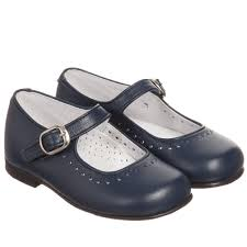 children s classics girls navy blue leather mary jane shoes childrensalon
