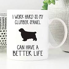 clumber spaniel mug clumber spaniel gifts funny coffee mug ceramic pet cup for dog lover