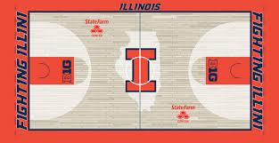 Illinois Basketball Seating Chart Illini Basketball Court Design On The State Farm Center