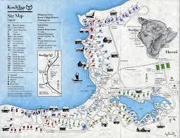 ephemera kona village site map 1994 jy 50 s hawaii