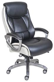 Amazon.com: Serta Works Executive Office Chair with Smart Layers  Technology, Black Bonded Leather and White Mesh: Kitchen & Dining