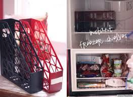 repurpose holders into freezer shelves