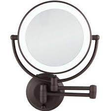 bathroom magnifying mirror. W LED Lighted Wall Mirror In Oil- Bathroom Magnifying G