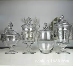 Decorative Glass Candy Jars Glass vase ornaments crafts decorations ornaments American country 18