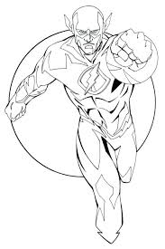 Kid Flash Coloring Pages Printable Free The For Kids Superheroes