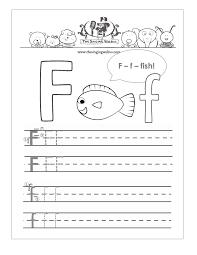 Letter F practice sheet