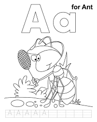 Small Picture A for ant coloring page with handwriting practice Download Free