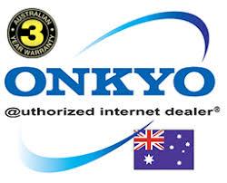 onkyo logo. home theatre specialists onkyo logo