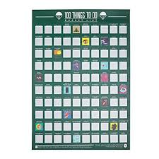 Pop Chart 100 Essential Movies 100 Movies Scratch Off Poster Classic Movies Film Buff