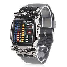 black led watches men s pu digital led wrist watch black