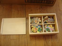 melissa doug 4 wooden jigsaw puzzles in a