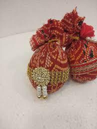 Decorative Nariyal Designs Fancy Decorated Jaipuri Design Nariyal Set Of 2 Pscs