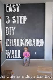 Easy 3 STEP DIY Chalkboard Wall -   Chalkboard paint projects, Diy  chalkboard and Chalkboard walls
