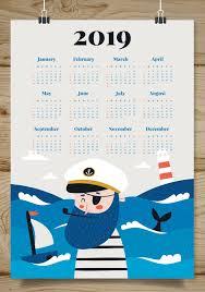 Calender Design Template Cute 2019 Calendar Design Monthly Calendar Templates Calendar