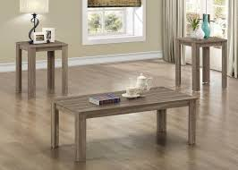 dark taupe reclaimed look 3pcs table