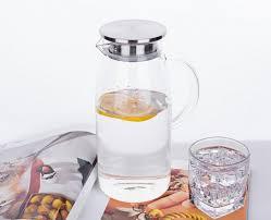 purefold glass water pitcher