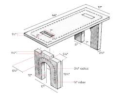 build this beautiful concrete bench This Old House Table Plans build plans and specs ask this old house picnic table plans