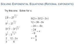 solving exponential equations rational exponents