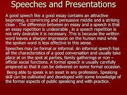 speeches and presentations a good speech like a good essay  1 speeches and presentations a good