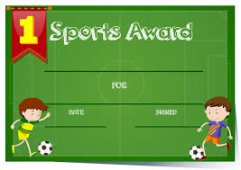 Free Soccer Certificate Templates Certificate Template For Sports Award Vector Free Download