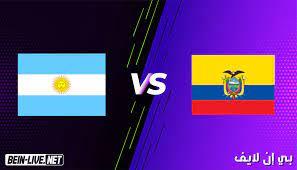 مشاهدة مباراة الارجنتين والاكوادور بث مباشر اليوم بتاريخ 04-07-2021 في كوبا  امريكا