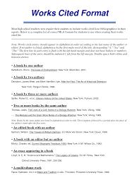 Cited Works Mla Format Essay Citation Generator Mla