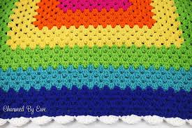 Granny Square Blanket Pattern Gorgeous Rainbow Granny Square Throw Charmed By Ewe