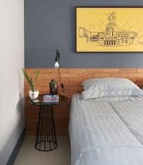 O morador tinha esta cabeceira de madeira ripada num quarto mais espaçoso. 40 Ideias De Cabeceiras Para Voce Se Inspirar Revestindo A Casa