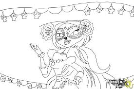 how to draw la muerte from the book of life step 10