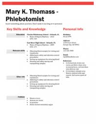 Phlebotomy Resume Sample | Template Business