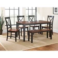 steve silver kingston 6 piece dining table set an updated take on a clic farmhouse style the steve silver kingston 6 piece dining table set is a