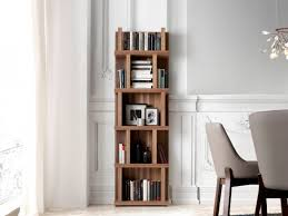 home office shelf. Stylish \u0026 Modern Walnut Veneer Slim Bookshelf By Porto Lujo Home Office Shelf