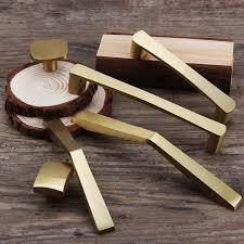 <b>Gold brass</b> kitchen <b>cabinet handles Cupboard</b> Door <b>Pulls Drawer</b> ...