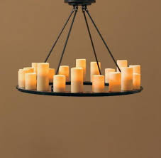 elegant real candle chandelier lighting from home fice dekoration