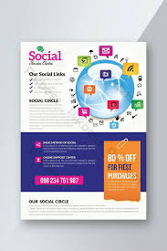 business services template spread your business worldwide digital marketing flyer