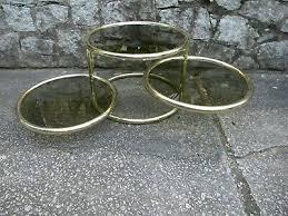 mid century milo baughman style brass