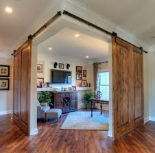 Overlapping Sliding Barn Doors Ideas Sliding Barn Doors With Modis Face Features Hmgnashvillecom