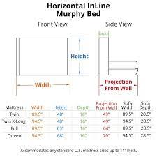 standard wall beds. horizontal inline murphy bed dimensions standard wall beds r