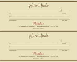 restaurant gift certificate template free fishing gift certificate template microsoft office