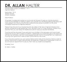 Sample Letters Of Retirement Physician Retirement Letter Example Letter Samples Templates